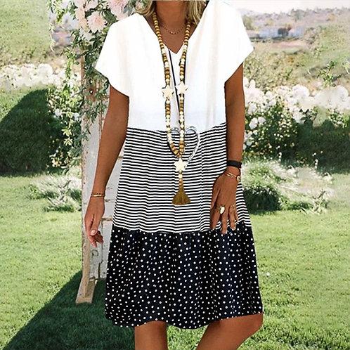 Women Boho Loose Dress Plus Size Dresses Female Summer Style Cotton Casual