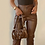 Thumbnail: InstaHot Women Faux Leather Pant Trouser Split Flare Pants Black High