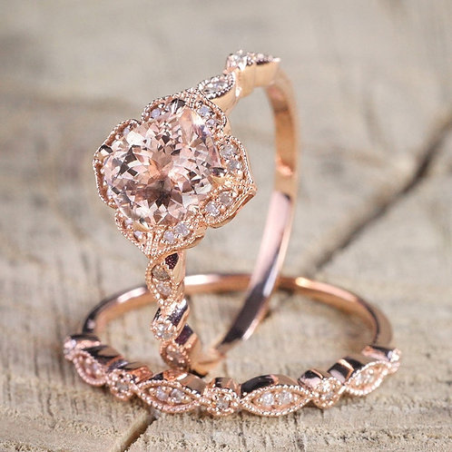 Jewelry Crystal Ring Engagement Rings for Finger Band Party Gift Golden Rings