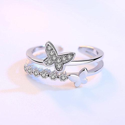 Open Rings Rhinestone Zirconia Wedding Party Rings for Women Gift Jewelry