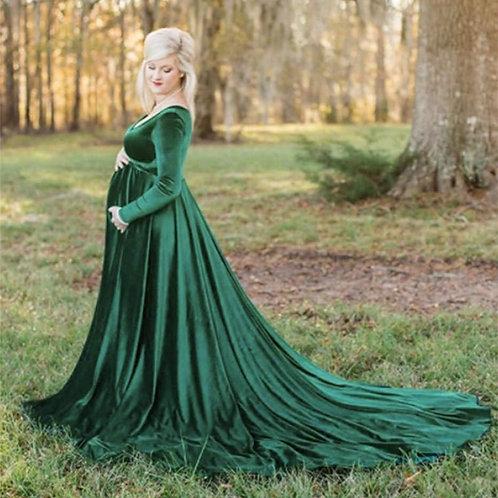 New Elegence Maternity Dresses Long Pregnancy Dress Maternity Gown for Shoot