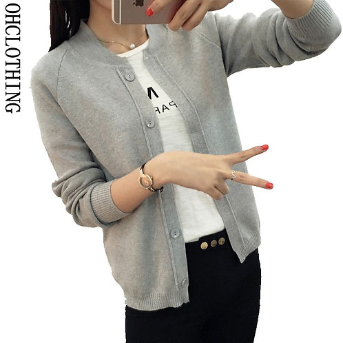 9 Color Wool Sweater v Neck Wild Female Small Shawl Jacket Burderry Women
