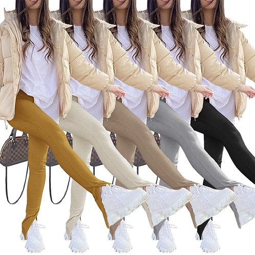 Joggers Women Pants Split Solid Color High Spring Long Pants Clothes for Women