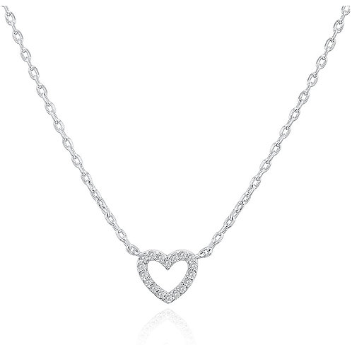 White Gold Plated Heart Pendant