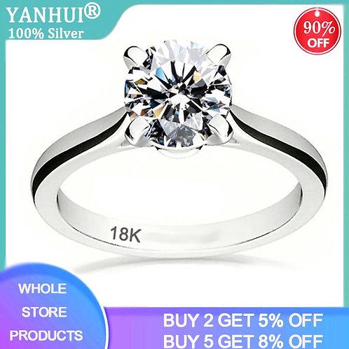 2.0ct Zirconia Diamond Wedding Rings Women