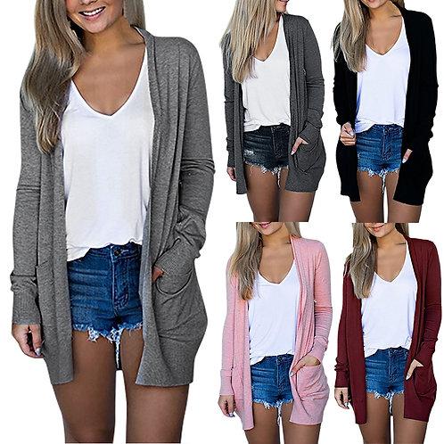 Fashion Casual Streetwear Autumn Long Jacket Coat Women Long Sleeve Slim