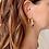 Thumbnail: 2021 Style Transparent Resin U-Shaped Metal Earrings Personality