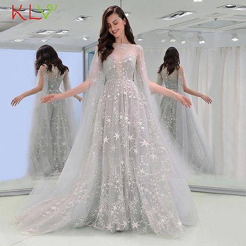 Dress Women Sexy Star Tutu Elegant Gown Summer Floor Dress Evening Party