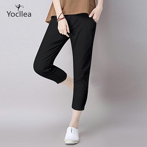 Pants Loose Slim Plus Size Casual  Cotton Linen Ankle-Length Pants Trousers