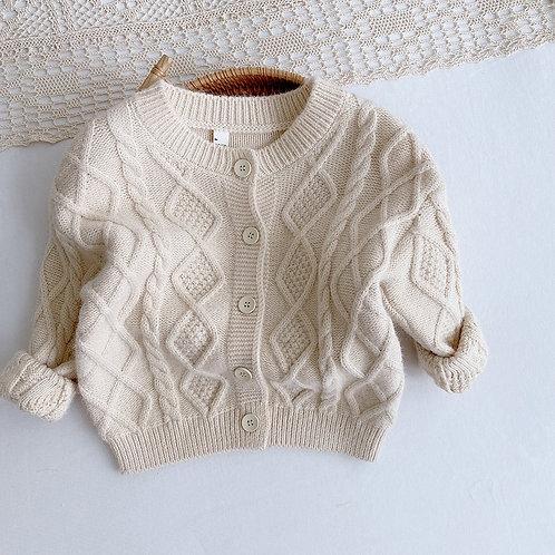Girls  Full Sleeve Single Solid Knitting Outwear Coat Toddler