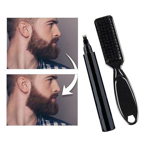 1 Set Beard Filling Pen Kit Barber Pencil With Brush Mustache Repair Shape