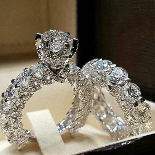 Women's Round Inlaid Diamond Ring