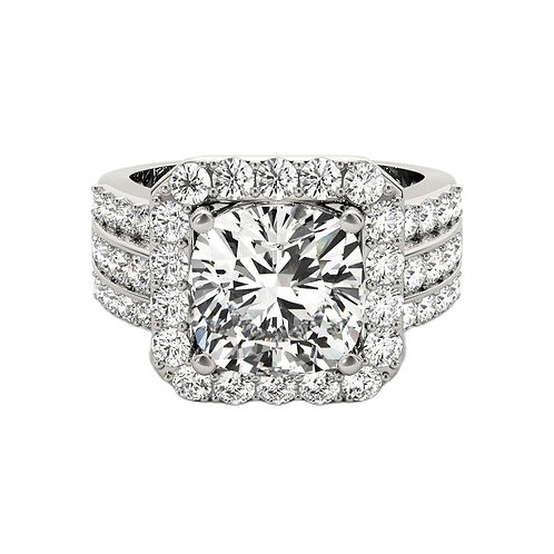 3 Carat Fashion Jewelry 925 Sterling Silver Engagement Wedding Ring Round Cut