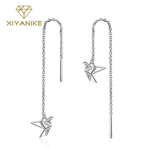 925 Sterling Silver Earrings for Women Trendy Elegant Ear Jewelry Couple Gift