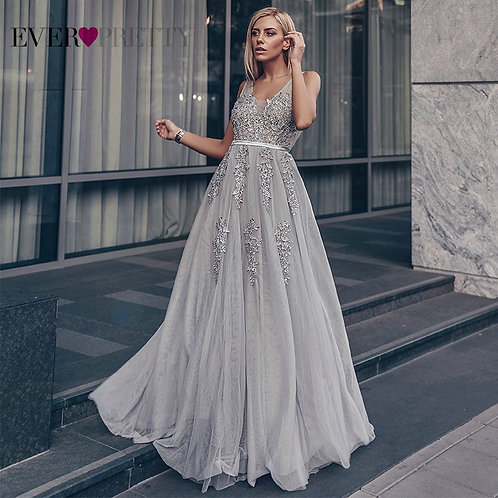 Tulle Prom Dresses Long Women Ever  a Line v Lace Formal Party Dress