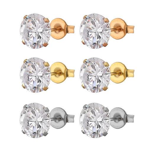 FairLadyHood 1Pair AAA CZ Wedding Stud for Men Accessories Earing Oorbellen