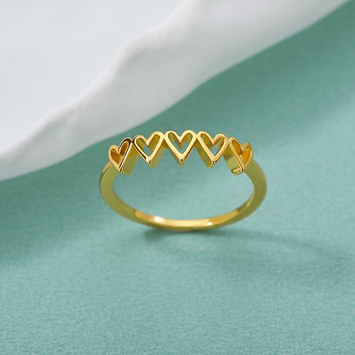 Heart-Shaped Ring Fashion Women Stainless Steel Rings Bride Bridesmaid Gifts