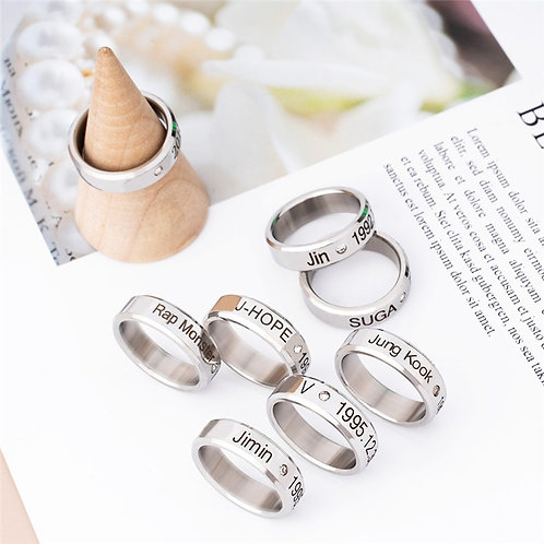 1Pc Ring Stainless Steel Finger Rings Jewelry Rings Accessories