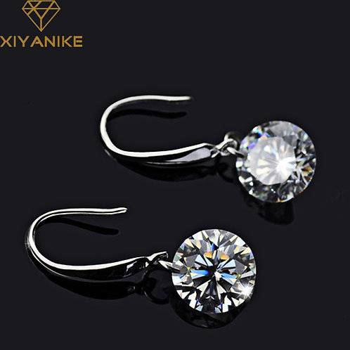 925 Sterling Silver New for Women Wedding Couple Simple Geometric Party Jewelry