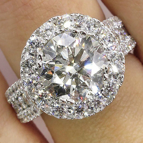 Fashion Rings for Women  White Zircon Cubic Elegant Rings Female Wedding Jewerly