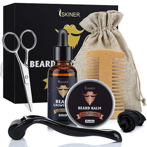 5pcs the Men Beard Oil Growth Kit