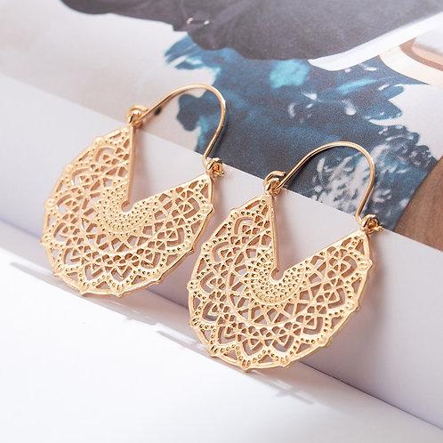 Golden  Dangle Drop Earrings Engagement Earrings Hanging Jewelry Accessories