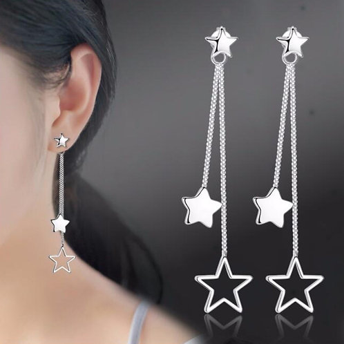 925 Sterling Silver New Jewelry High Quality Retro Long Tassel Hanging Earrings