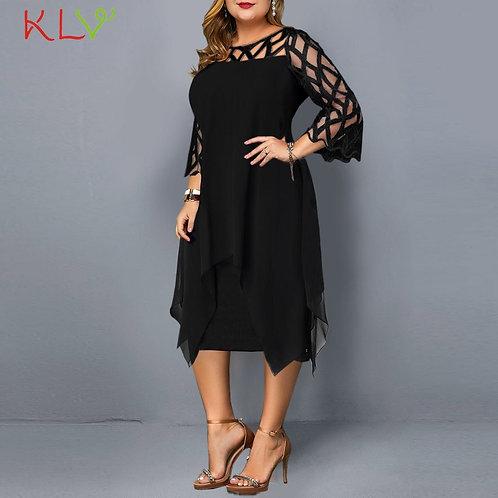 Dress Women Elegant Plus Size Dress Dresses Party Night Ladies Clothes 5XL