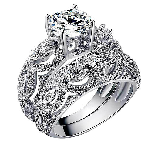 2pcs Fashion 2021 Rings for Couples Love Couple 2 Piece Set Ring Size 6-10