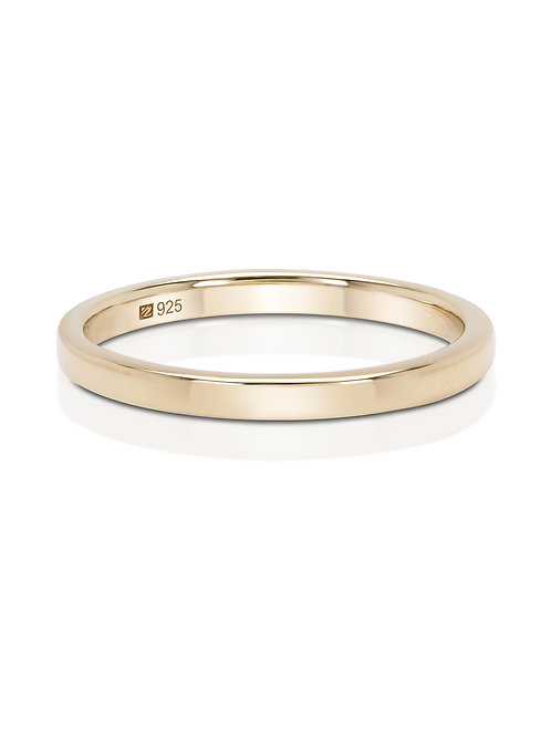 Sterling Silver 14K Gold-Plated Stacking Ring