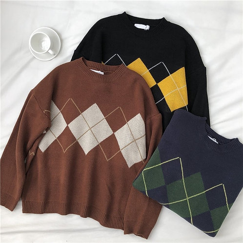 Knitted Sweater Pullovers Ladies Winter Loose Sweaters Female Casual Jumper