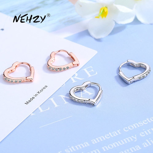 925 Sterling Silver New Woman Fashion Jewelry High Quality  Gold Silver Earrings