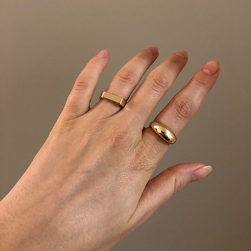 Minimalist Gold Color Chunky Rings for Women