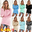 Thumbnail: Super Soft and Comfortable Self-Cultivation Solid Color O Neck Pullover Women's