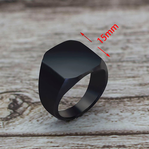 Style Black Gold Square Ring Ring Wedding Party  Classic for Men Women Gift