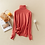 Thumbnail: Tops Solid Turn-Down Collar Pullovers Female Thick Turtleneck Knitted High