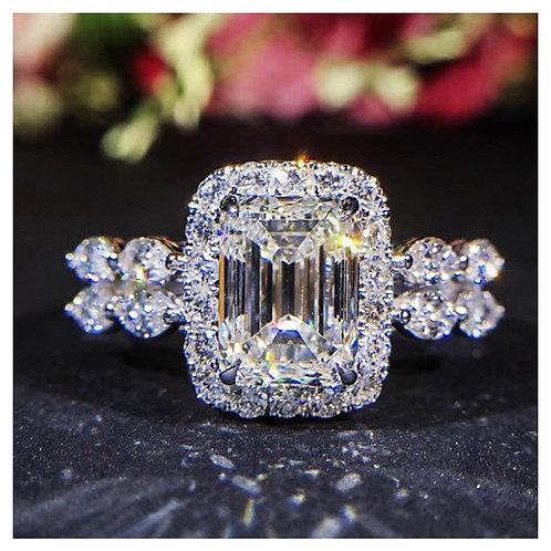 Women's Square Artificial Diamond Ring