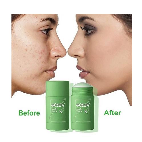 40g New Green Stick Green Tea Stick Clay Stick  Oil Anti-Acne Skin Care