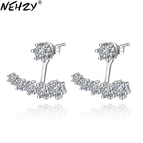 Women 'S Jewelry High - Grade Zircon Six - Claw Stud Brand Simple Silver Jewelry