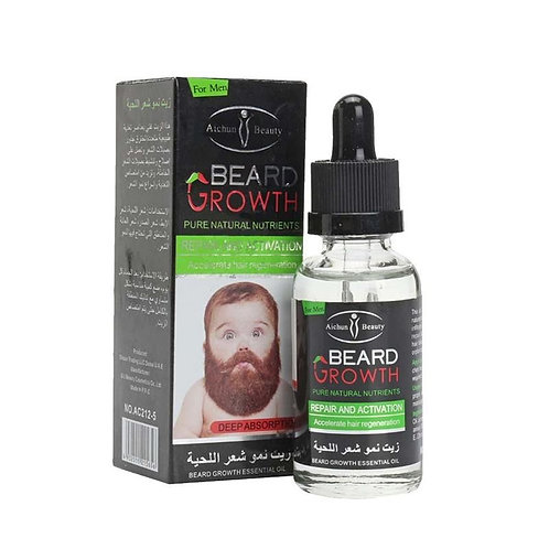 Organic Men Beard Growth Oil Hair Loss Products Leave-In Conditioner