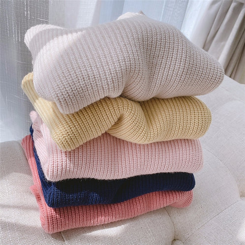 Solid Color Tops Clothes  New Kids Cashmere Pullover Sweaters