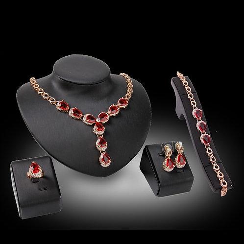 Luxury Cubic  Jewelry Sets for Women Necklace Earrings Set Wedding Bridal Womem