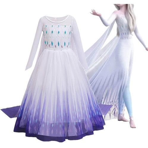 Dress New Elsa Dress 2 Christmas Party  Snow Blue Dresses Princess