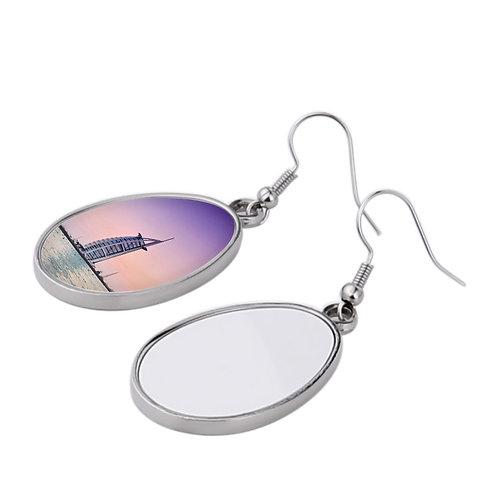 Earring Jewelry Double-Sided Earring for Printing in Blank Zinc