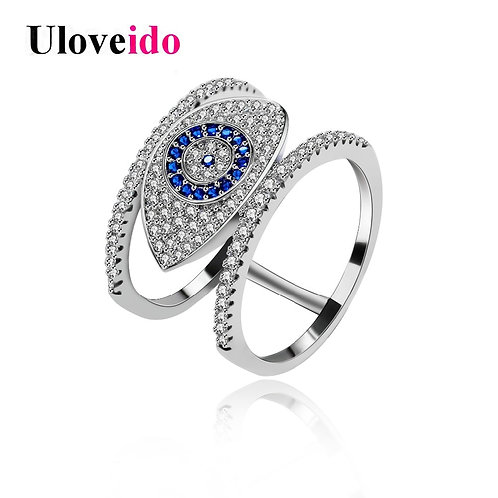 Rings for Women  Female Ring With an Eye Gifts for the New Year Decorating Y325