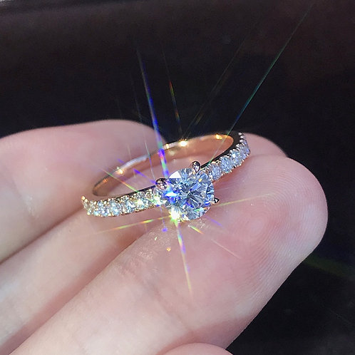2021 Trendy Crystal Zircon Wedding Jewelry Accessories Gift Fashion Women Rings