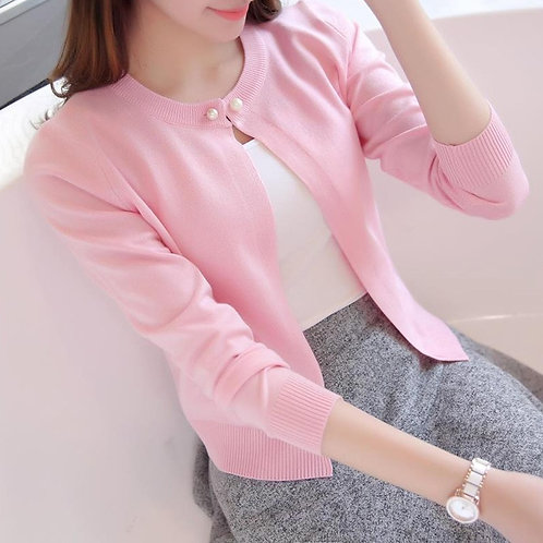 Fashion New Women Long-Sleeved Sold Color Sweater Cardigans Female Clothings