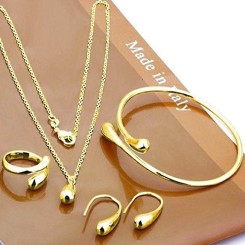 Eardrop Shape Pendant Water Drop Jewelry Set