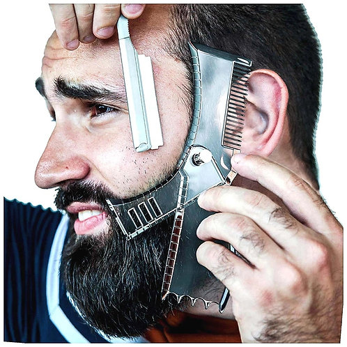 5 in 1 Men Comb Rotatable Men's  Beauty Tool for Hair Trimming Moustache Comb