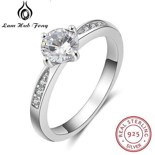 925 Sterling Silver Ring Engagement Wedding Gift Silver 925